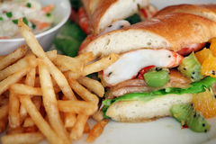 Sandwich with prawn Stock Photos