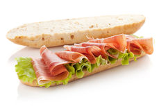 Sandwich preparation Royalty Free Stock Photo