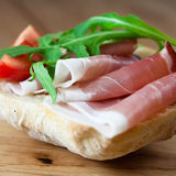 Sandwich with prosciutto Stock Image