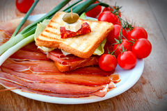 Sandwich with prosciutto Royalty Free Stock Photo