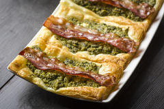 Sandwich with puff pastry Stock Images