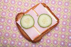 Sandwich from pumpernickel bread Stock Photo
