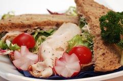 Sandwich with radish. Stock Photos