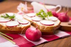 Sandwich with radish Royalty Free Stock Image