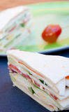 Sandwich raw vegetables Stock Image