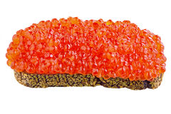 Sandwich with red caviar Royalty Free Stock Photography