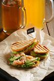 Sandwich with red fish Stock Images