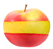 Sandwich of red and yellow apple Stock Images