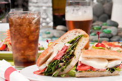 Sandwich and refreshments Royalty Free Stock Photography