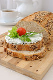 Sandwich with ricotta Stock Images