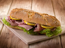 Sandwich with roastbeef lettuce Royalty Free Stock Photography
