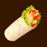 Sandwich roll sketch, VECTOR Royalty Free Stock Images