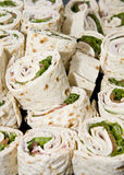 Sandwich Rollups Stock Photography