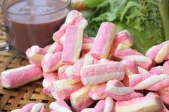 Sandwich rose à chocolat chaud et à thon de guimauves Photos stock