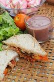 Sandwich rose à chocolat chaud et à thon de guimauves Photographie stock libre de droits