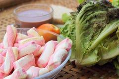Sandwich rose à chocolat chaud et à thon de guimauves Image stock