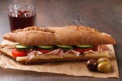 Sandwich rustique Photographie stock libre de droits
