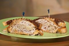Sandwich Rye de la Turquie Reuben images libres de droits