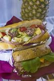 Sandwich`s on a plate in a restaurant Royalty Free Stock Photo