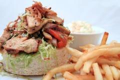 Sandwich salad. Photograph of sandwich salad food portion Stock Image