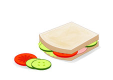 Sandwich with salad Royalty Free Stock Images