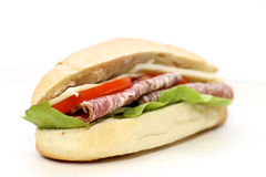 Sandwich with salami Stock Image