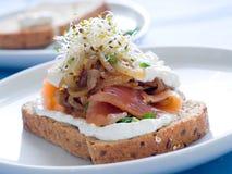 Sandwich with salmon Stock Photo