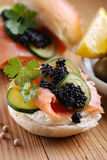 Sandwich with salmon Royalty Free Stock Photography