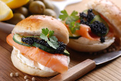 Sandwich with salmon Royalty Free Stock Image
