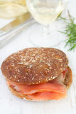 Sandwich with salted fish Stock Image