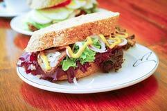 Sandwich. Sandwich On Background Stock Photo
