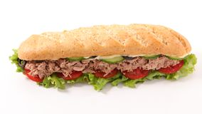 Sandwich. With tuna and salad Stock Photo