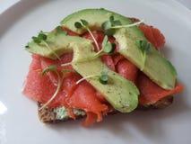 Sandwich saumoné Image stock