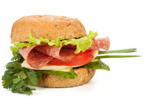 Sandwich with sausage Royalty Free Stock Image