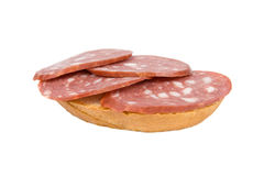 Sandwich with sausage. Stock Photos