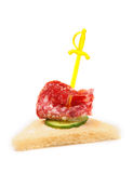 Sandwich with sausage Royalty Free Stock Images