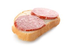 Sandwich with sausage.jpg Royalty Free Stock Photos