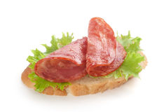 Sandwich with sausage Royalty Free Stock Photos