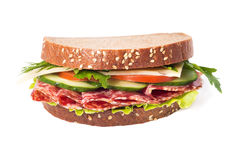 Sandwich with sausage and vegetables Stock Photo