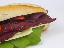 Sandwich savoureux à sous-marin de boeuf photos stock
