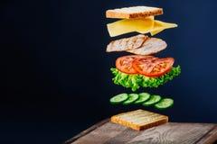 Sandwich savoureux Image libre de droits