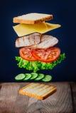 Sandwich savoureux Photographie stock