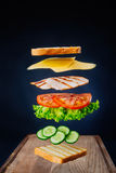 Sandwich savoureux Photo stock