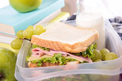 Sandwich for school Royalty Free Stock Image