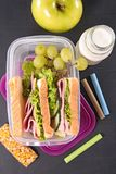 Sandwich school lunch Royalty Free Stock Photography