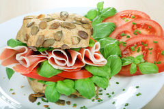 Sandwich with schwarzwald ham Stock Images