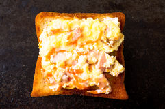 Sandwich with scrambled eggs Royalty Free Stock Photo