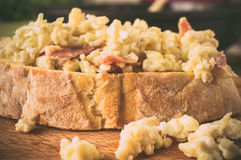 Sandwich with scrambled eggs Royalty Free Stock Image