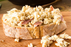 Sandwich with scrambled eggs Stock Image