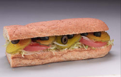 Sandwich secondaire végétarien Photographie stock libre de droits